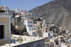 Village traditionnel d'Olympos - Karpathos Photos stock