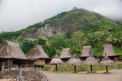 Village traditionnel de Bena sur Flores Photo libre de droits