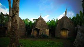 Village traditionnel de tribu de Dorze, Chencha, Ethiopie photos libres de droits