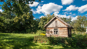 Village traditionnel en Pologne Images stock