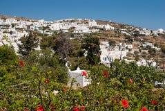 Village traditionnel sur l'île de Sifnos Images stock