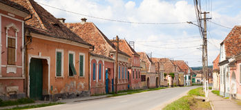 Village in transylvania Romania Stock Photo