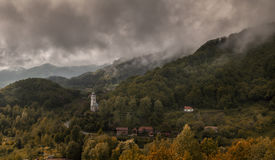 Village in Transylvania Stock Photo
