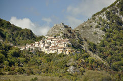 Village of Tremonti in Abruzzo Italy Stock Photo