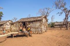 Village tribal Photographie stock