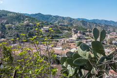 Village in Troodos Mountains, Cyprus. The village of Galata, in the Troodos Mountains of central south Cyprus, an island in the Mediterranean Stock Photos