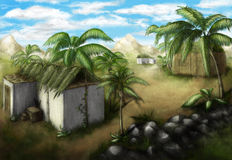Village tropical Illustration Libre de Droits