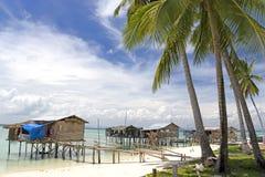 Village tropical d'île Photo stock