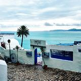 Village. Tunis Mediterranean travel cafe Royalty Free Stock Images