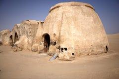 Village in Tunisia. Atractive village in Tunisian desert Royalty Free Stock Images