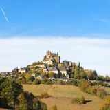 Village Turenne in French Correze royalty free stock photos