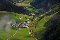 Village in Tyrolean  valley Stock Image
