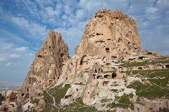 Village of Uchisar in Capadocia Royalty Free Stock Photos