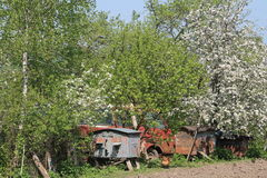 Village in Ucraine. Picture from the Ukrainian village where you can see all the beauty of this country Royalty Free Stock Image