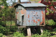 Village in Ucraine. Picture from the Ukrainian village where you can see old beehive Royalty Free Stock Photos