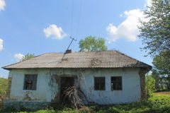 Village in Ucraine. Picture from the Ukrainian village where you can see old home Royalty Free Stock Image
