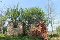 Village in Ucraine. Picture from the Ukrainian village where you can see old home Royalty Free Stock Photo