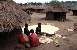 A village in Uganda. Stock Photos