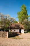 Village ukrainien au printemps Image libre de droits