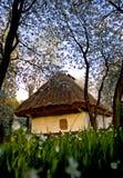 Village ukrainien au printemps Photographie stock libre de droits