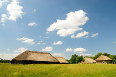 village ukrainien traditionnel Photographie stock libre de droits