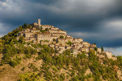 Umbria. Village in Umbria (Italy) and mountains at summer Stock Photography