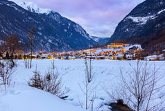 Village Umhausen - Tirol Austria Stock Images