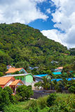 Village under the mount in Thailand Royalty Free Stock Photos