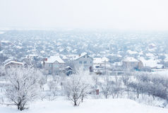 Village under snow Royalty Free Stock Photo