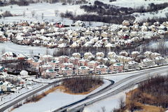 Village under snow Royalty Free Stock Images