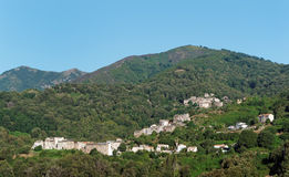 Village in upper corsica Stock Images