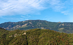 Village in upper corsica mountain Royalty Free Stock Image