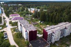 Village urbain de Nikolsky région sur de Svir rivière, Léningrad près de la Carélie, Russie nature image libre de droits