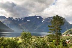 Village Urke at the Hjorundfjord Stock Image