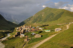 Village Usghuli  in Svaneti, Georgia Royalty Free Stock Images
