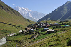 Village Usghuli  in Svaneti, Georgia. Very beautiful and UNESCO village Usghuli in Upper Svaneti, Georgia Royalty Free Stock Photography