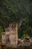 Village Ushguli Georgia Stock Photo