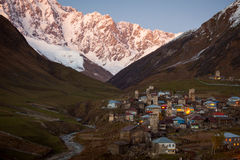 Village Ushguli. Svaneti. Georgia Royalty Free Stock Images