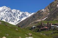 Village Ushguli. Upper Svaneti. Georgia. Ushguli - the highest inhabited village in Europe. Upper Svaneti. Georgia Stock Images