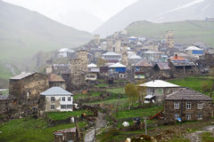 Village Ushguli in Upper Svaneti in Georgia Royalty Free Stock Image