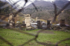 Village Ushguli in Upper Svaneti in Georgia Royalty Free Stock Photos
