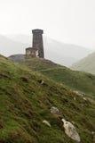 Village Ushguli in Upper Svaneti in Georgia. Caucasus mountains, the highest inhabited village in Europe Stock Photography
