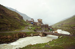 Village Ushguli in Upper Svaneti in Georgia Stock Images