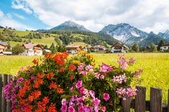 Village Val Gardena South Tirol Dolomites mountain Royalty Free Stock Photos