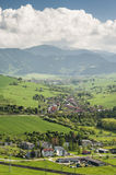 Village in a valley Royalty Free Stock Photos