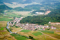 Village in valley Stock Photography