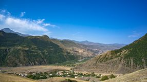 Village at valley royalty free stock photography