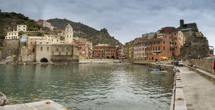 Village of Vernazza on the Cinque Terre coast of Italy. Stock Image