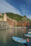 Village Vernazza, Cinque Terre, Italy Stock Photography
