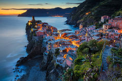 Village of Vernazza. Royalty Free Stock Images